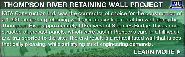 Thompson River Retaining Wall Project